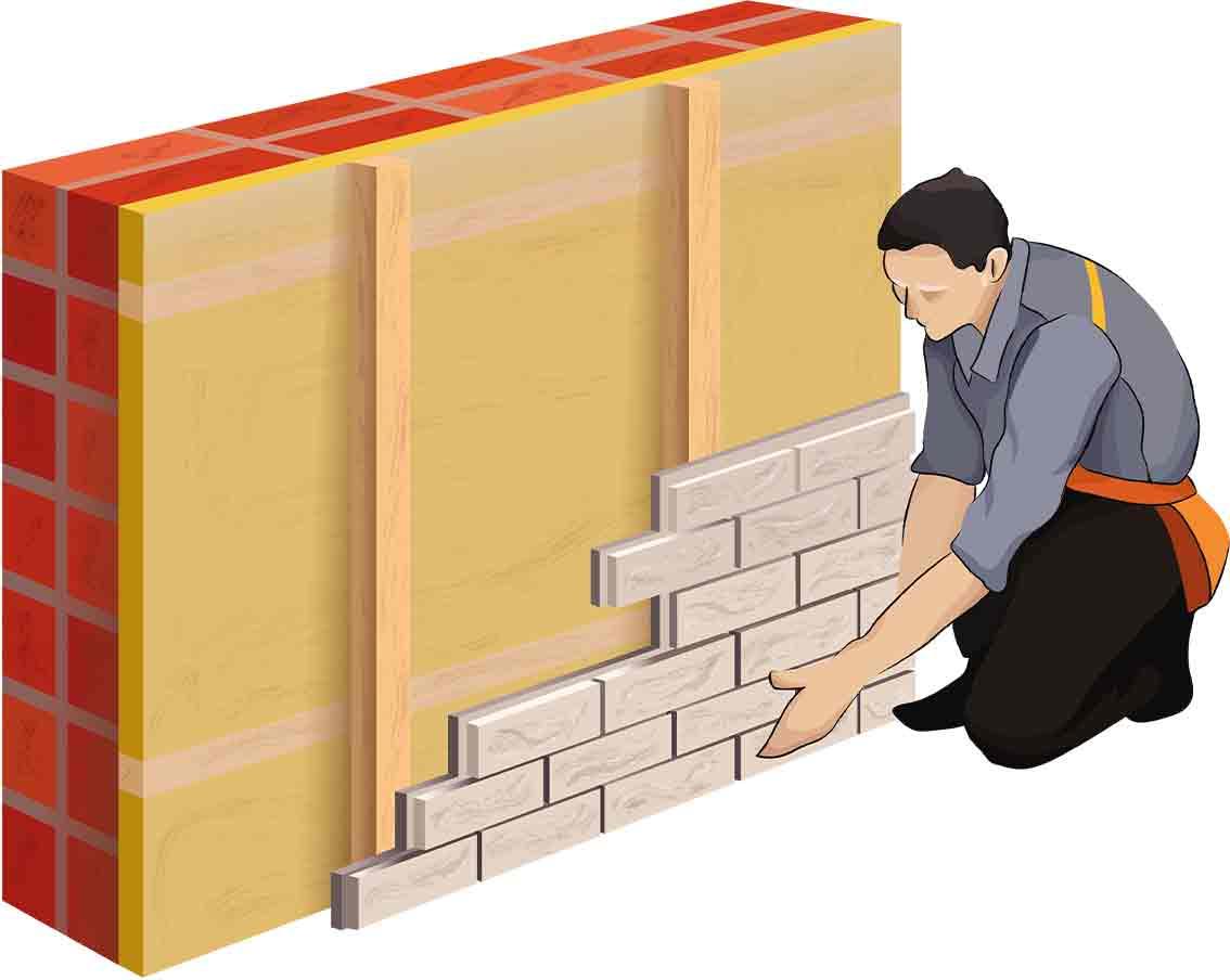 Монтаж фасадных панелей 1